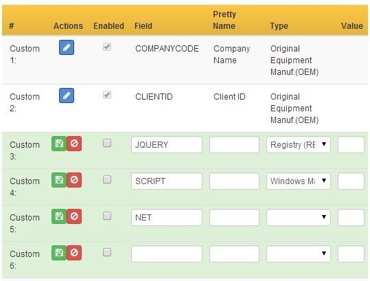 Custom fields is a jquery bootstrap based data table which for Add th table jquery