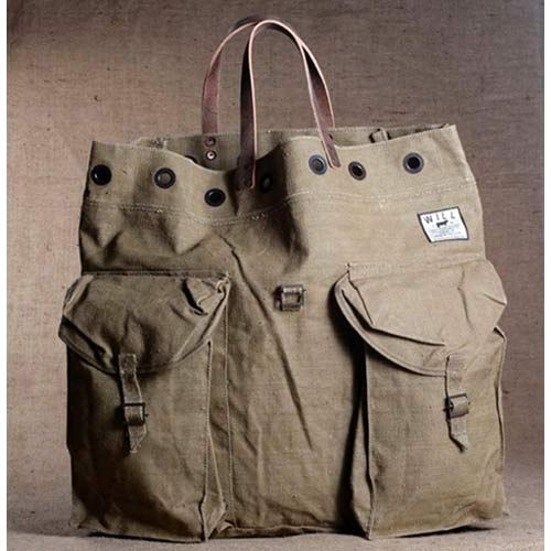 Will Leather Goods Large US Army Tote Bags (#31028)
