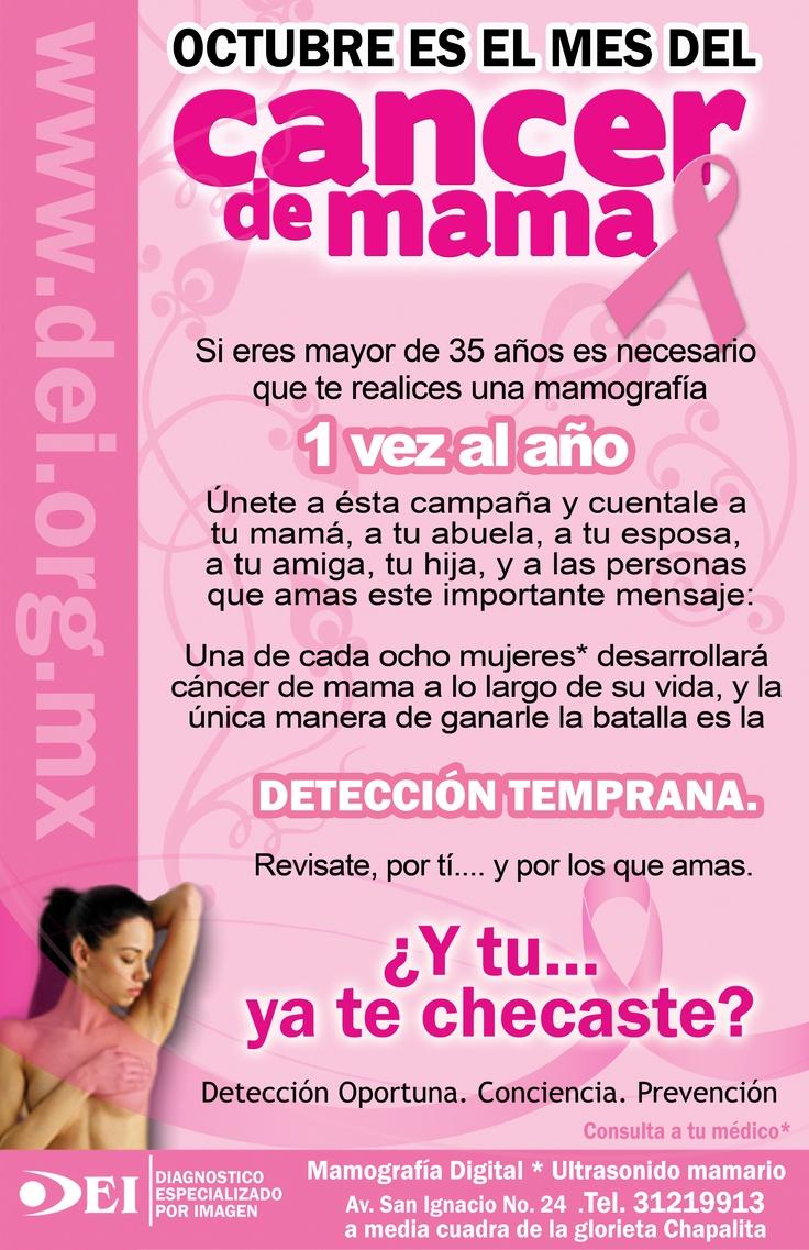 Campaña contra el cáncer de mama  Mamografía digital     Diagnostico Especializado por Imagen Jalisco México www.dei.org.mx
