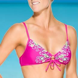 Dragonfly Scrunch Bikini Top - Ride out summer in epic style with this bright mix-and-match suit made for the surfer girl in all of us. On sale for $7.99
