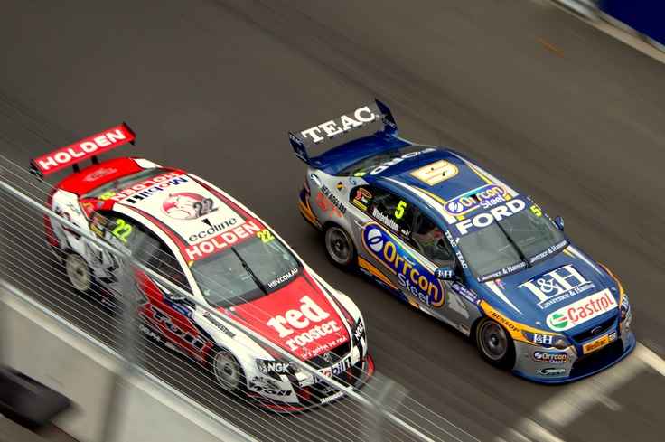 Remember when Mark Winterbottom & Will Davison drove for different manufacturers? This is during the 2010 Sydney Telstra 500.    Photo by Craig Coomans ©. Feel free to share, simple ensure you credit the photo to me.
