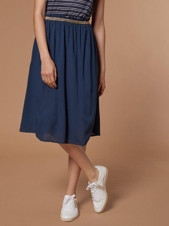 6ebab5cb57316 Jupe femme en crêpe de viscose | Dressing en 2019 | Tailleur jupe ...