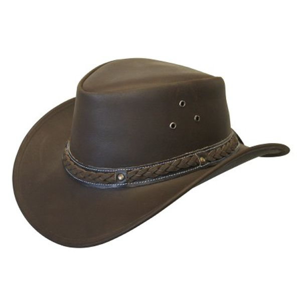 Conner - Down Under Leather Outback Hat