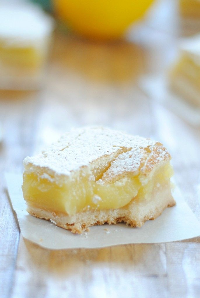 These delicious lemon bars have a buttery crust, creamy-gooey filling, and crispy sugar top. They are simply PERFECT!