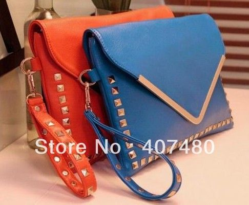 Find More Evening Bags Information about Wholesale retail rivet  PU leather Evening day Handbag beautiful shoulder bag sling Lady girl's Fashion brand mulit color,High Quality bag women,China shoulder bag small Suppliers, Cheap bag womens from China Rui International Bags Trading Co., Ltd. on Aliexpress.com