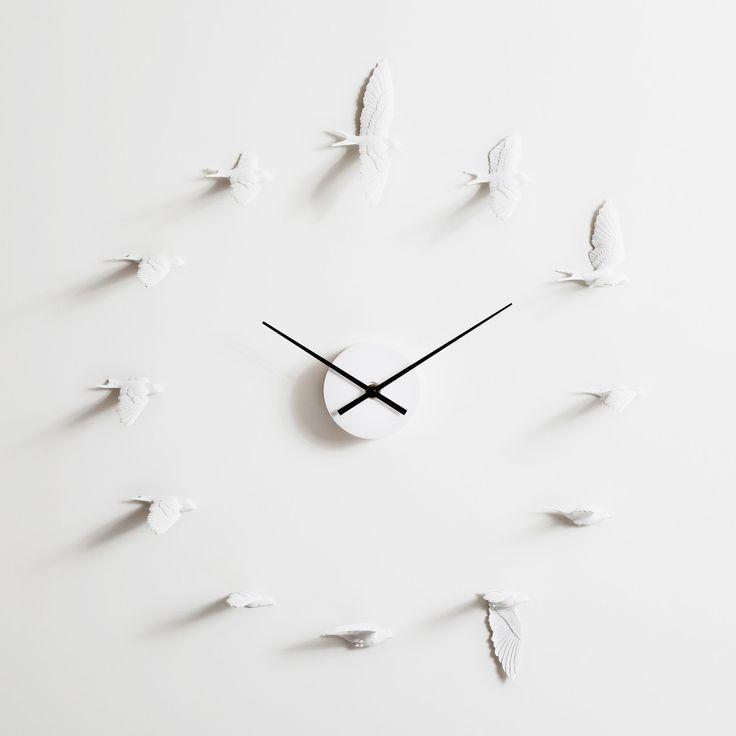 The Swallow Clock: Decor, Ideas, Birds Clocks, Haoshi Design, Wall Clocks, Swallows Clocks, Haoshidesign, Products, Design Studios