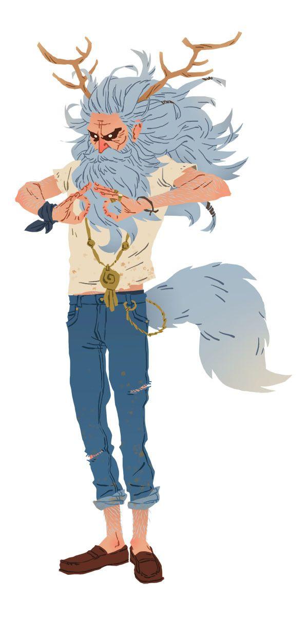 Yogi character design by Benali Amine, via Behance