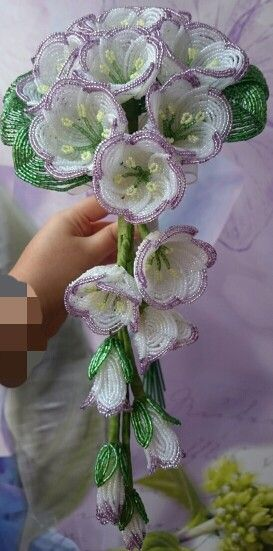 Beaded wedding bouquet دسته گل عروس منجوقی