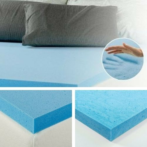 "2"" Inch Gel Memory Foam Mattress Topper Twin Size Bed Comfort Cooling Pad Soft #MemoryFoamMattressTopper"