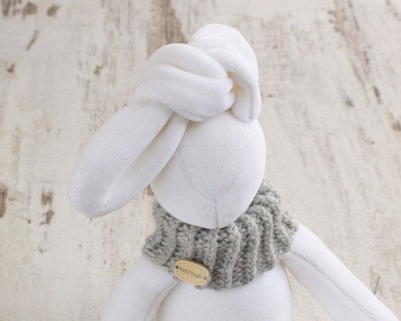 Stuffed Bunny handmade animal toy plush baby by RibizliDesign
