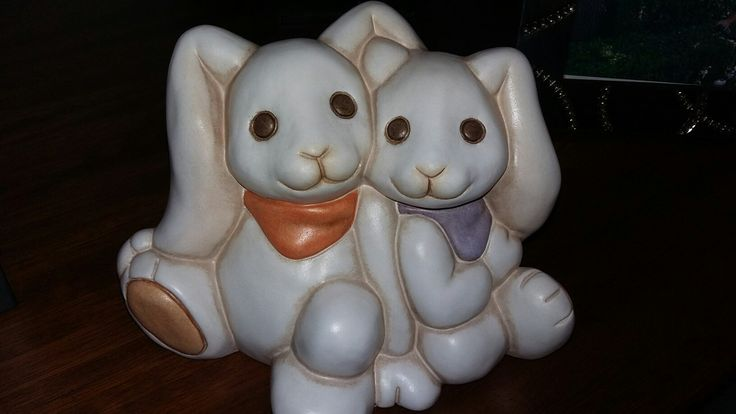 Coppia di conigli di pezza