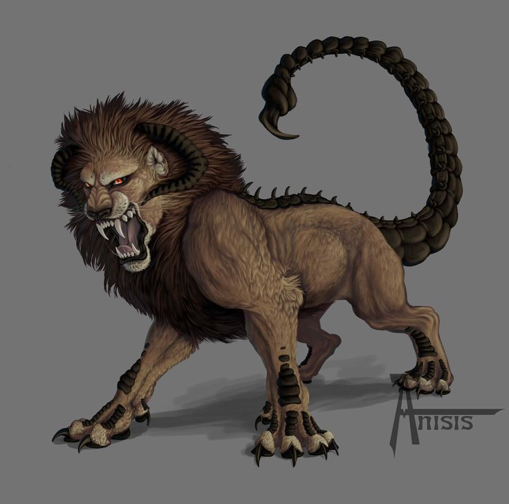 The #manticore (Early Middle Persian Martyaxwar) is a Persian legendary #creature similar to the Egyptian sphinx.