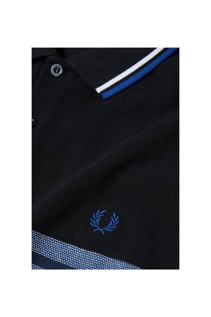 Fred Perry - Oxford Stripe Pique Shirt Cobalt