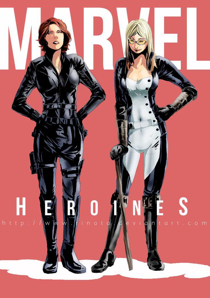 Marvel Heroines Black Widow_MockingBird by rinota