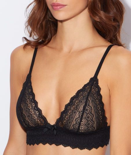 Triangle sans armatures à basque tout dentelle ETAM - lingerie party, women's underwear lingerie, online shopping lingerie