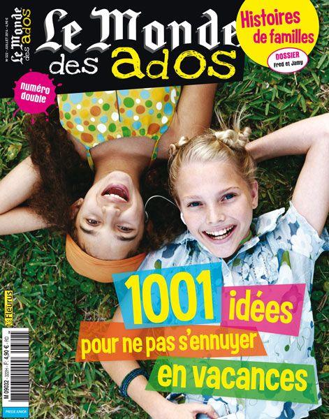 Le Monde des Ados n°322 - 2 juillet 2014 : 1000 idées pour ne pas s'ennuyer en vacances #presse #ados #magazine