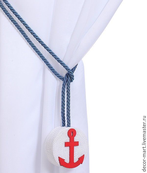 Sea style curtain tieback | Купить Морской подхват Якорь - морской подхват, морской стиль, море, конкурс коллекций