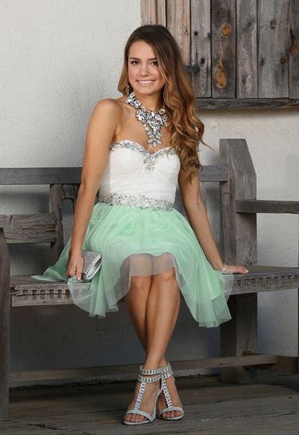 Addaley-Mint Dress from Windsor. #prom #shortdress #sparkle