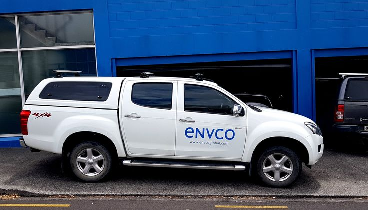 Cut vinyl vehicle graphics for ENVCO by Speedy Signs Newton