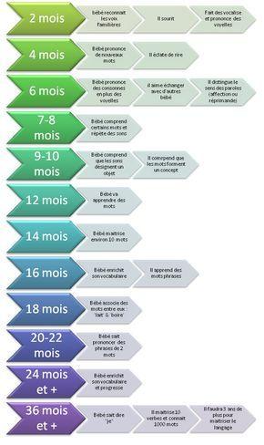 Evolution du langage chez le bébé et le jeune enfant