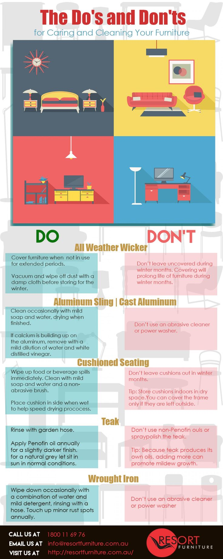 Do's & Don'ts of Taking Care of Your Furniture Infographic