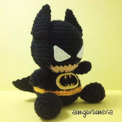 Batman Amigurumi easy crochet pattern