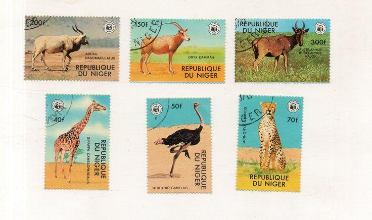 Нигер 1978. WWF. Фауна. Охрана природы, исчезающие виды животных. Серия 6 марок.