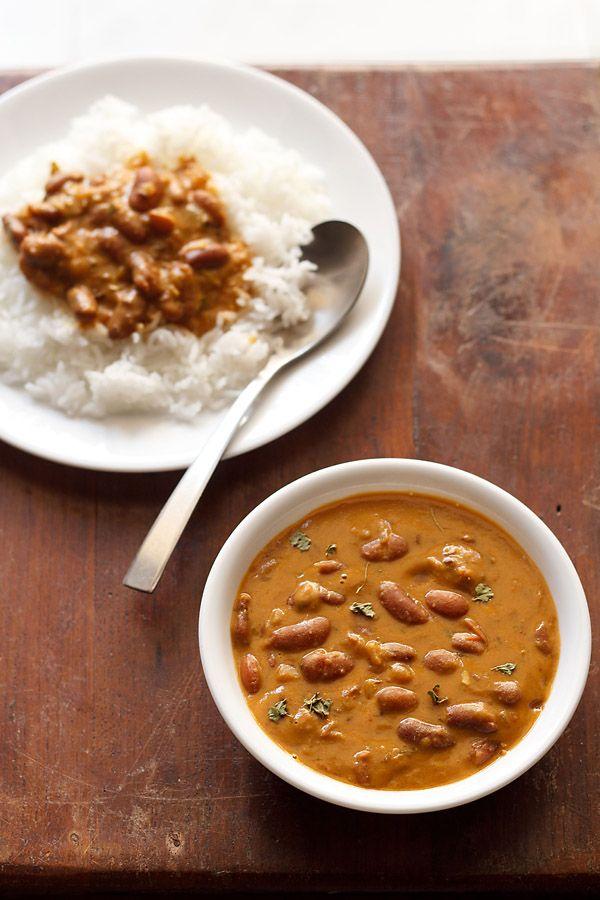 rajma masala restaurant style recipe. lightly spiced, creamy and a popular punjabi curry made with kidney beans.  #rajma #kidneybeans