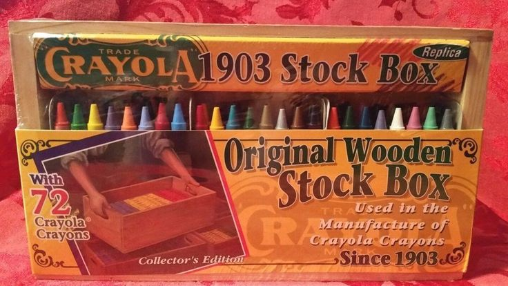 New Replica Crayola Crayons 1903 Wooden Stock Box Collectors Edition w/ 72 Ct. #Crayola