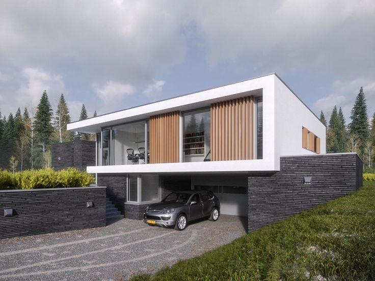 Maas Architecten » woonhuis enschede // stucwerk modern villa strak minimalistisch glas wit