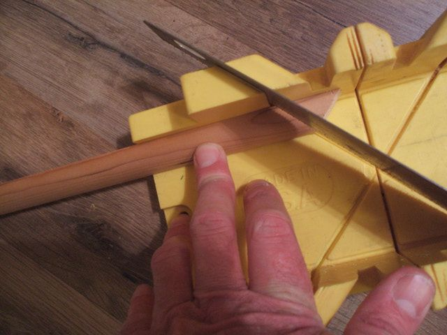How to Install Shoe Molding or Quarter-Round and Cut a Return: Cut Second Angled Piece