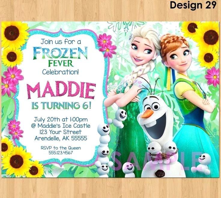Frozen Birthday Invitation Template Free Download Frozen