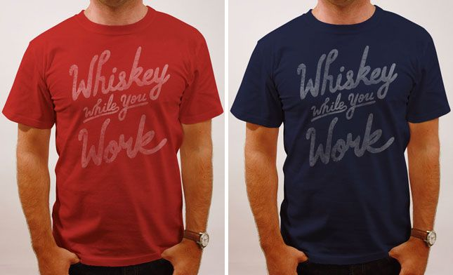 Whiskey while you work - Dark Spirits: 20 Great Gifts for Whiskey Lovers via Brit + Co.