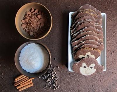 Galletas monos de chocolate y canela