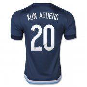 2016 Argentina Soccer Team KUN AGUERO #20 Away JERSEY [B128]