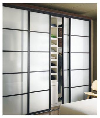 Sliding doors for the laundry room.  -Sliding Door Company