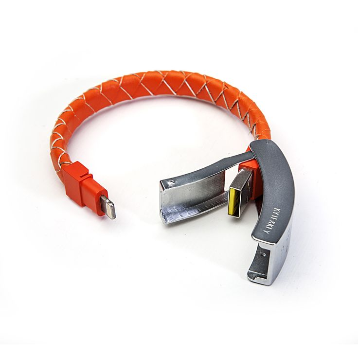 Кабель-браслет для iPhone и iPad - http://things.lifehacker.ru/2013/11/08/braided-leather-orange/