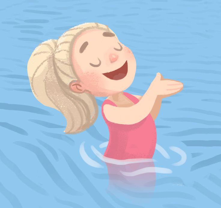 """Lovely illustrations for the children's book """"Caroline goes canoeing"""""""