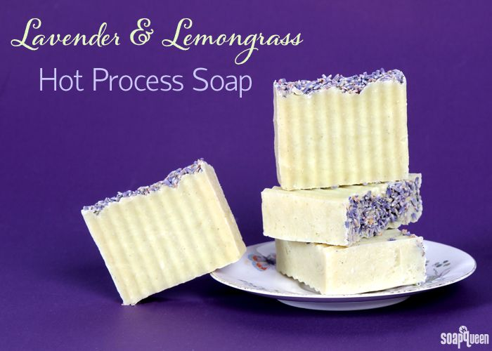 Learn how to create natural Lemongrass and Lavender Hot Process Soap in this video!