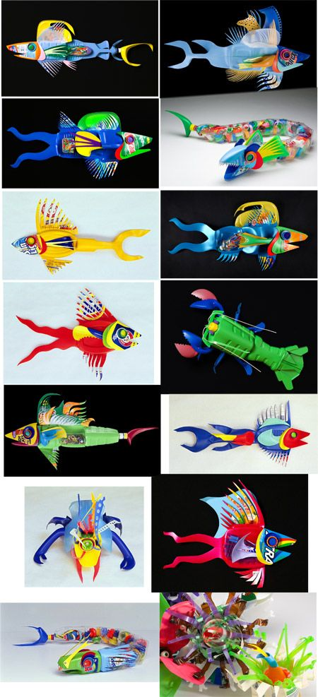 Awesome Crafts to Make with Recycled Plastic Bottles                                                                                                                                                     Más