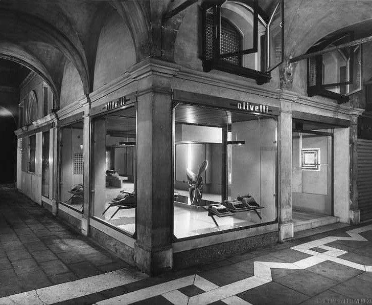 Il negozio Olivetti a Venezia Piazza San Marco 1956