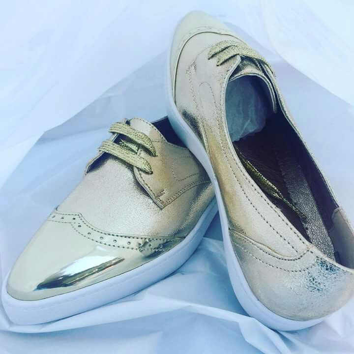 Mwtalic Gold sneaker loafers