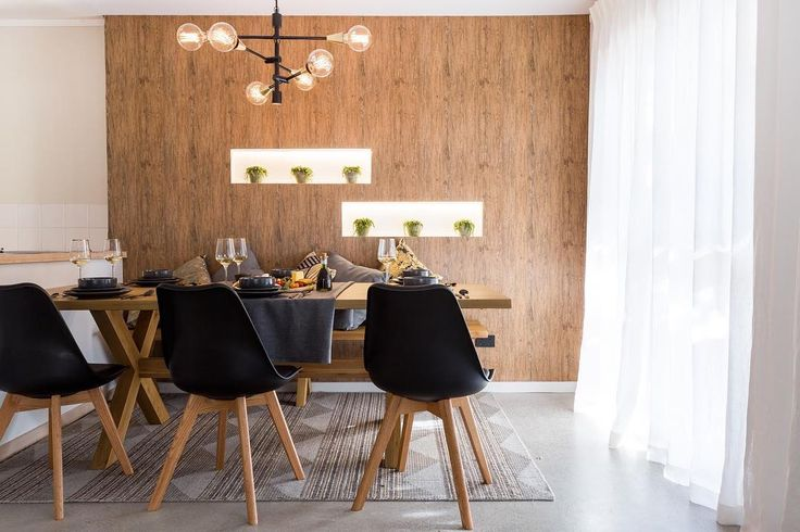 Our retro-inspired Brandon dining chairs looked the part week one on TV3's @theblocknzl in @dylsanddylz dining area. With polished oak  legs they bare all the hallmarks of mid-century Danish design with their  geometric splayed structure. The black seat makes a bold and contemporary  statement while enhancing the beauty in the natural oak legs. #freedomnz  #theblocknz2016 #theblocknz #freedomfurniture