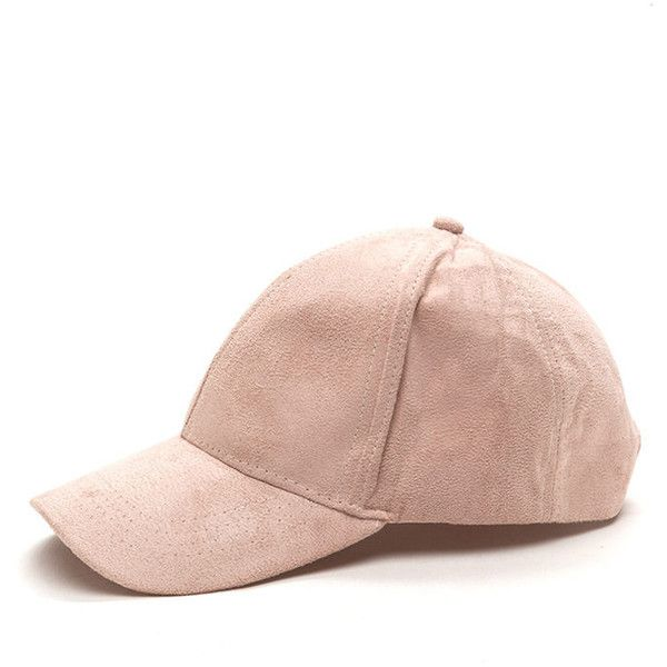 PINK Real Player Faux Suede Baseball Cap ($11) ❤ liked on Polyvore featuring accessories, hats, pink, baseball caps hats, velcro hat, 6 panel hat, adjustable ball caps and adjustable baseball caps