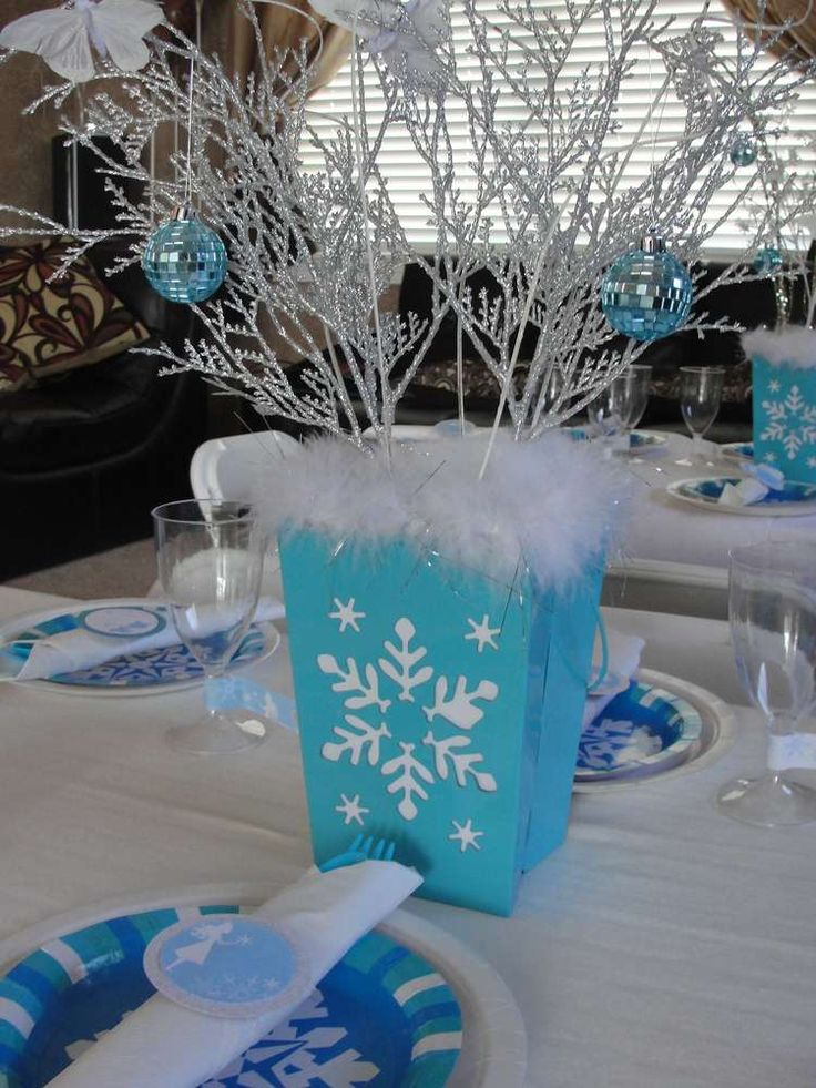 136 best winter wonderland party images on pinterest for Winter themed wedding centerpieces