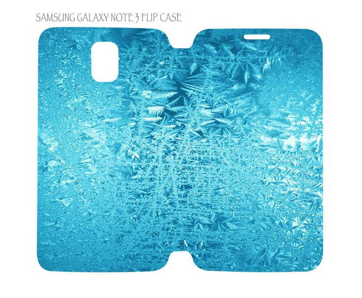 Samsung Galaxy Note 3 Flip Case Folio Cover Winter Nature Ice Pattern #04 #QuinnCafe