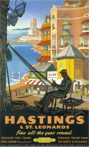 Hastings & St Leonards - Repairing Nets by National Railway Museum - art print from Easyart.com