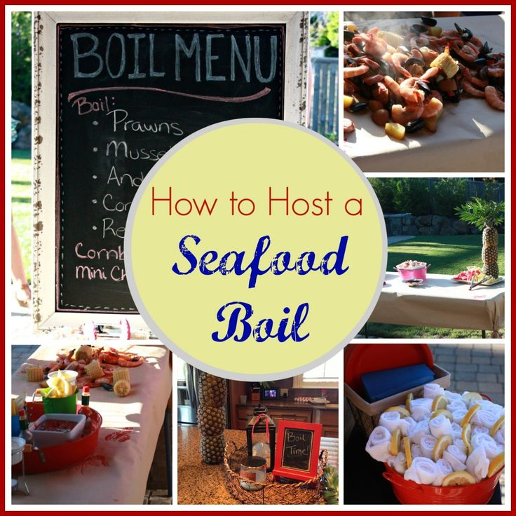 The prefect end-of-the-summer party...a Seafood Boil!  www.DeliciouslyWell.com