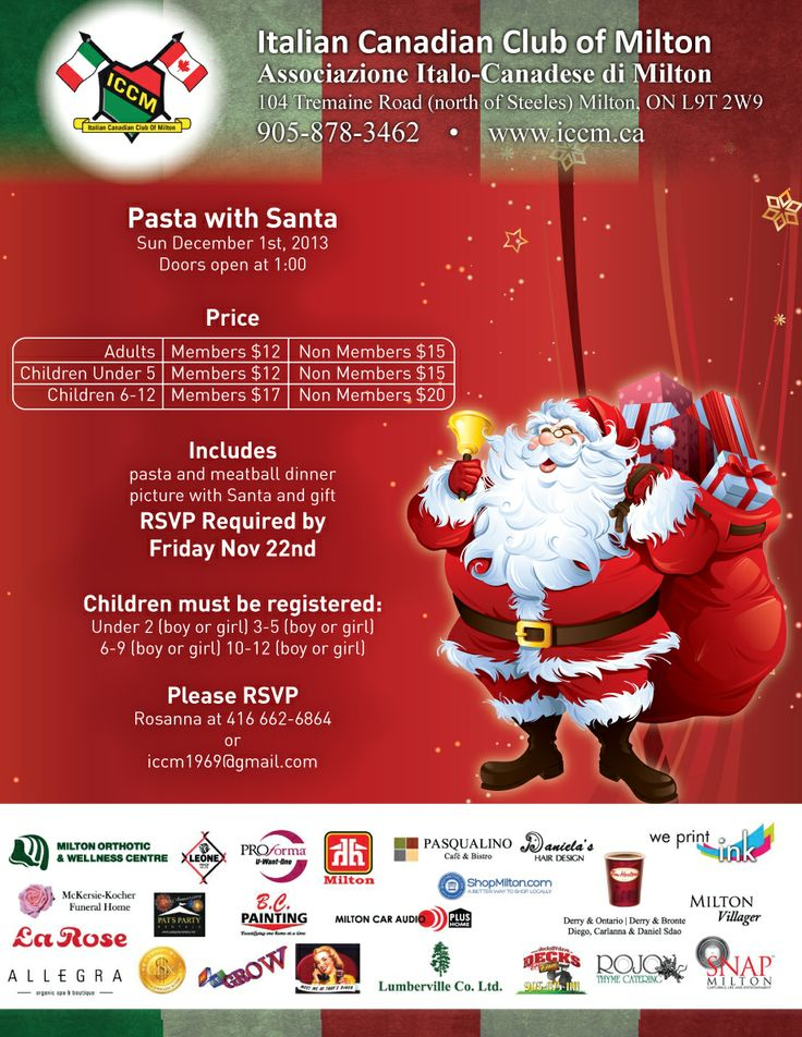 Pasta With Santa at the ICCM 2013 www.iccm.ca