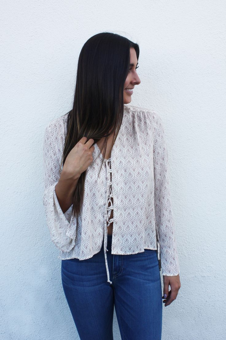 Feather Girl Tie Up Blouse